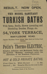 Advert for the Model Sanitary Turkish Baths